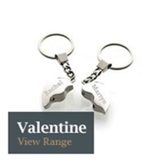 Can Be Engraved Personalised Satin Chrome Wave Design Keyring